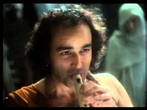 Orfeu tocant la flauta a Hades (simbolitzant la lira)