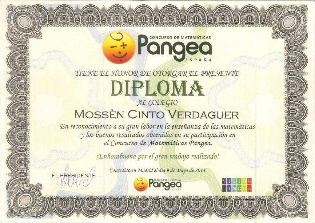 DIPLOMA PANGEA 2014