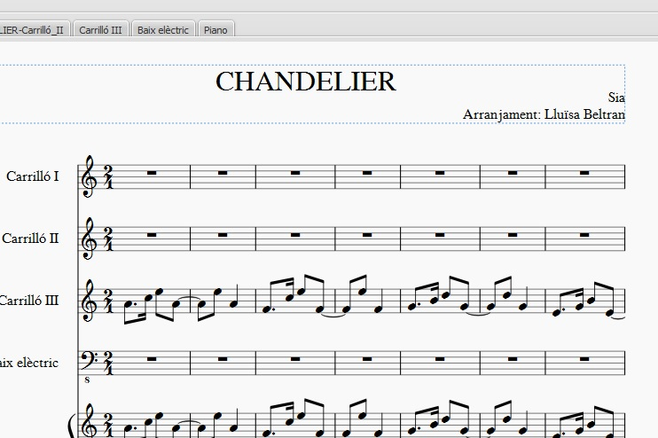 partitura Chandelier