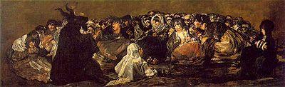 El Aquelarre o El Gran Cabrón, un espeluznante cuadro de Goya