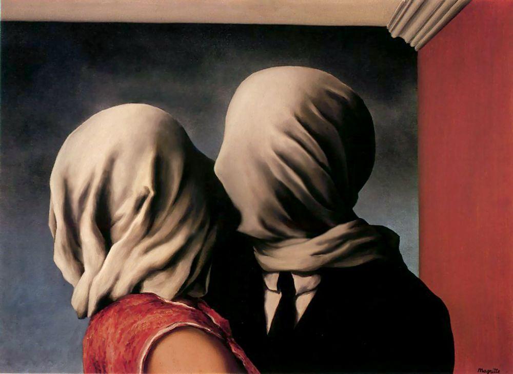R. Magritte, Els amants, 1928
