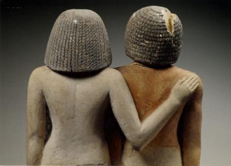 Estàtues de IA-IB i Khuaut Standing Egipte 4a Dinastia.