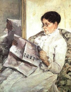 Mary Cassatt. Llegint el diari Le Figaro, 1878.