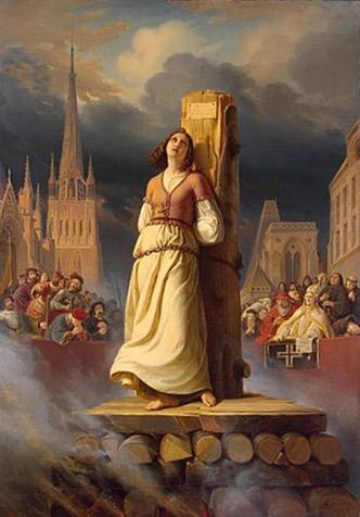 Hermann Anton Stilke (1803-1860). Joana D'Arc a la foguera, 1843