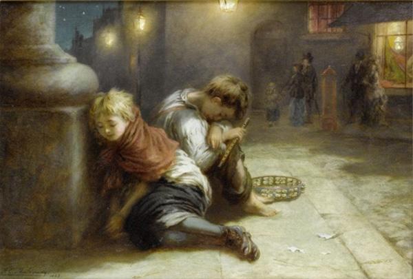 A. E. Mulready, Infants cansats (1883)