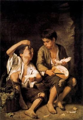 Murillo. Nens menjant raïm i meló, 1670