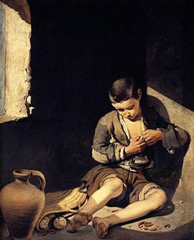 B.E. Murillo, Nen mendicant. (c. 1650)