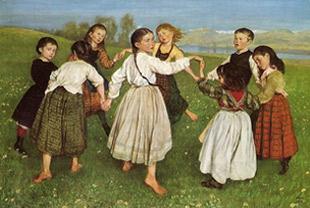Hans Thoma. Rotllana infantil, 1872.