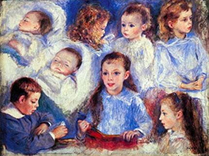 P. Renoir. Estudis de caps d'infants, 1881
