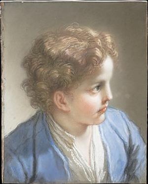 Benedetto Luti. Estudi d'un nen amb jaqueta blava, 1717.