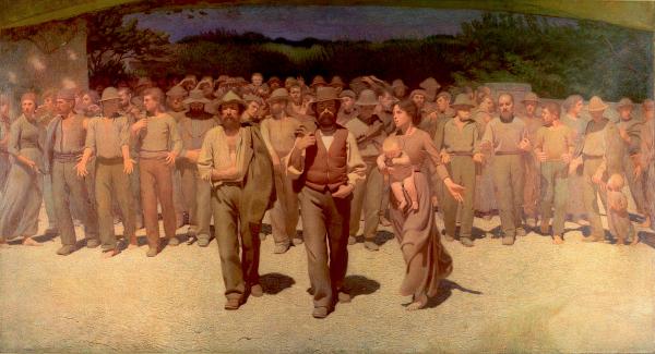 G. Pelliza da Volpedo. El quart estat, 1901.