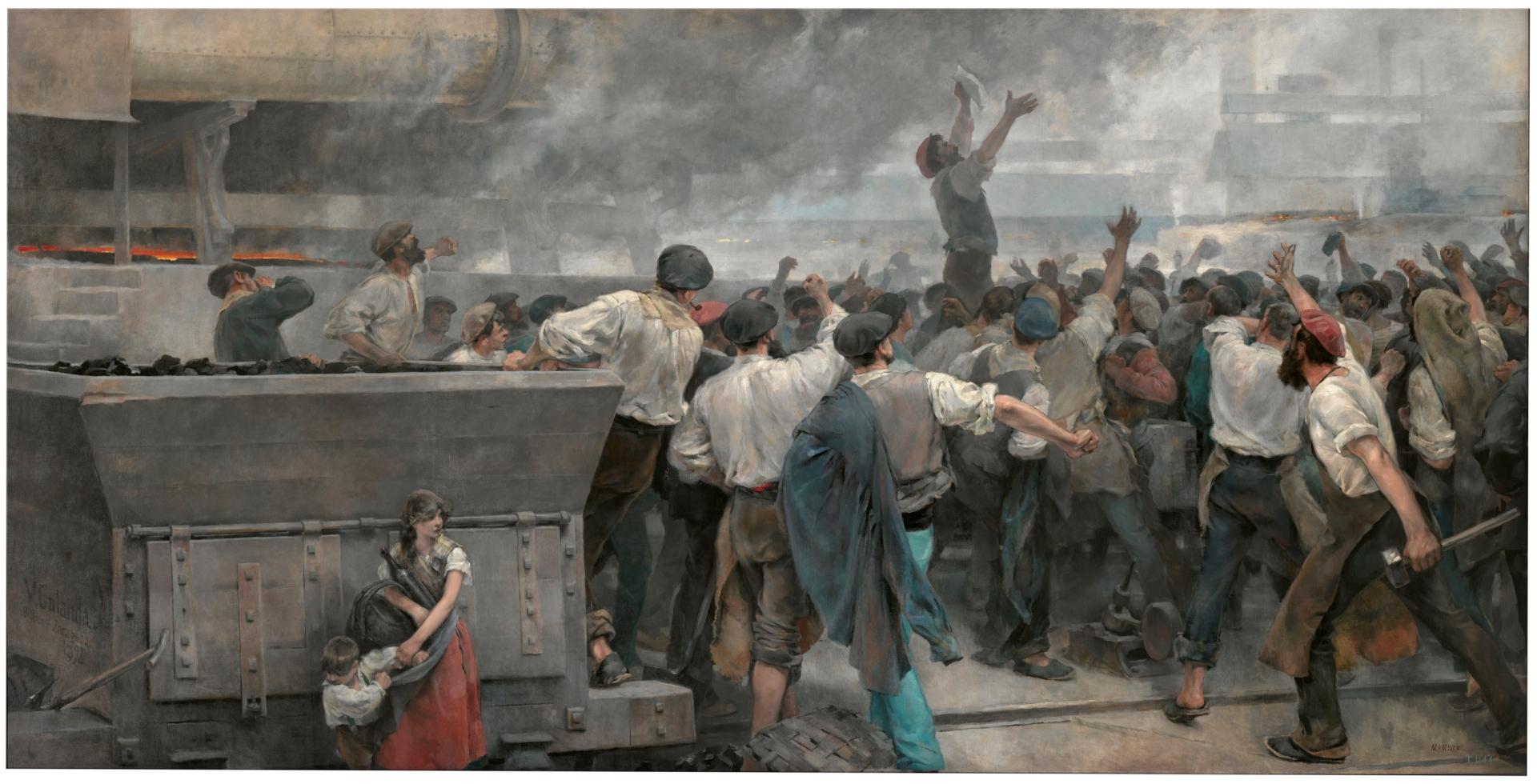 Vicente Cutanda. Vaga d'obrers a Biscaia, 1892.