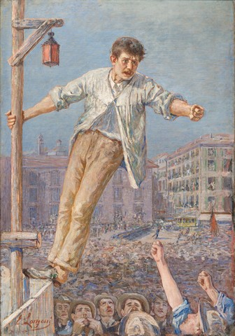Emilio Longoni. Orador de la vaga,1890-1891.