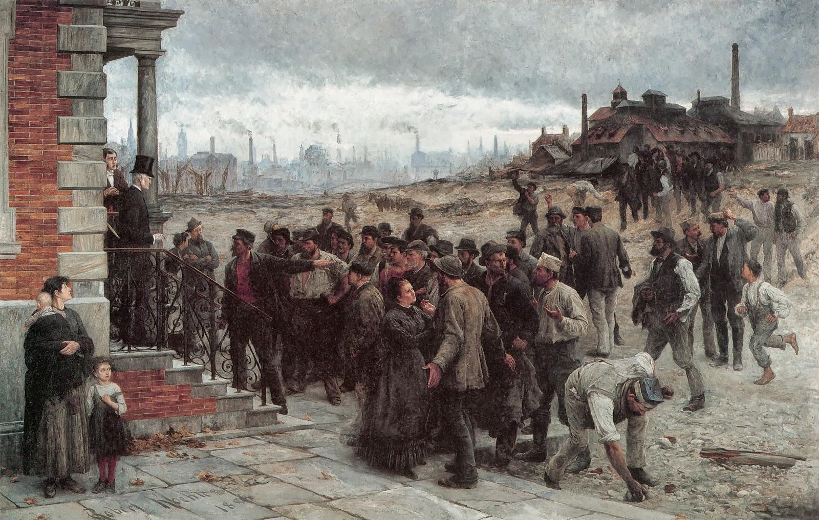 Robert Koehler. La vaga, 1866.