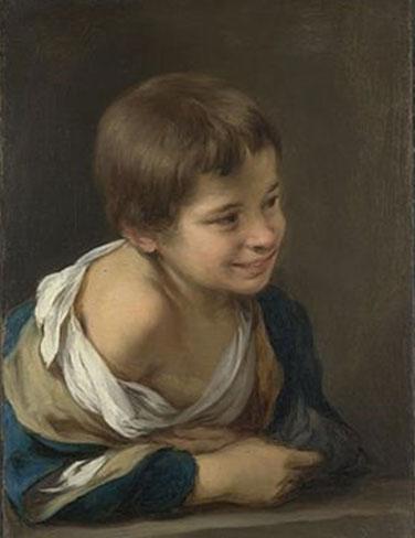 B. E. Murillo. Nen a la finestra. (c.1675)