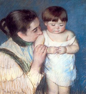 Mary Cassat. El petit Thomas i la seva mare, 1893.