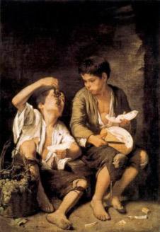 B. E. Murillo. Nens menjant meló i raïm, 1650