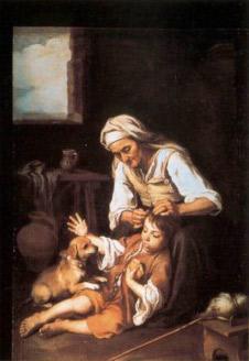 B. E. Murillo. La neteja, 1670-1675