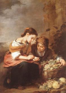 B. E. Murillo, Petites venedores de fruita, entre 1670 y 1675