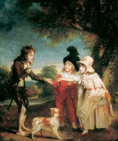 W. Beechey, Retrat dels fills de Francis Ford donant un coin, 1793
