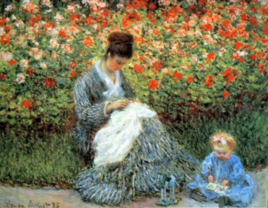 Monet. Madame Monet i infant, 1875