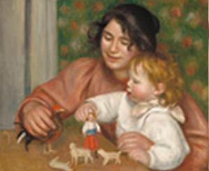 Auguste Renoir. Gabrielle i Jean amb les seves joguines, 1896.
