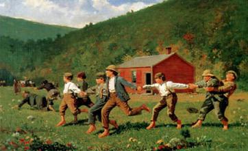 W. Homer. Nens jugant,1872.