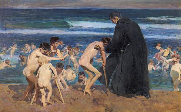 J. Sorolla. Bany d'infants tolits (1899)
