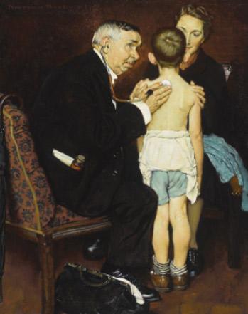 N. Rockwell. El doctor, 1938.