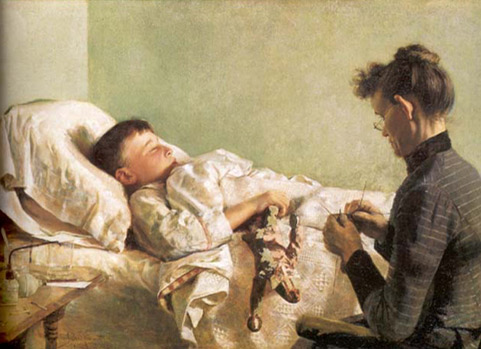 J. Bond Francisco. L'infant malalt, 1893.