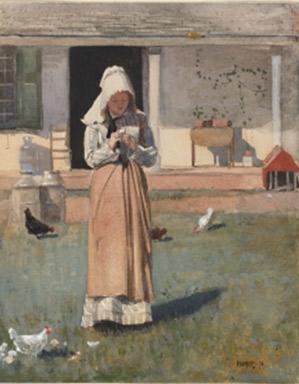 Winslow Homer. El pollet malalt,1874.