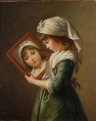 Elisabeth Louise Vigée Le Brun. Mirant-se en un mirall, 1787