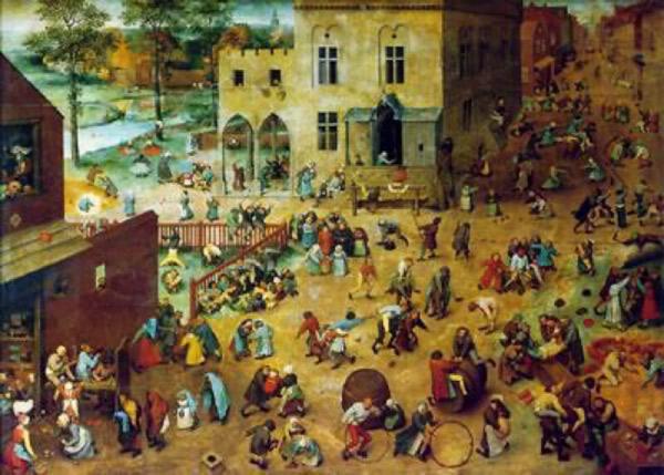 P. Brueghel, el jove. Jocs d'infants, 1560.