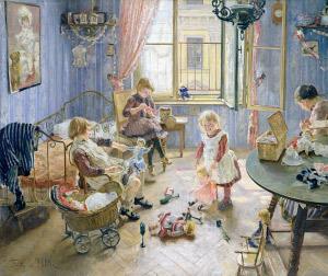 Fritz Uhde. L'habitació dels infants, 1889