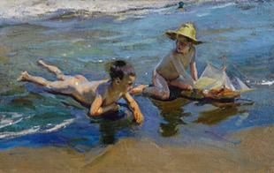 Joaquim Sorolla. Nens jugant a la platja, 1904.