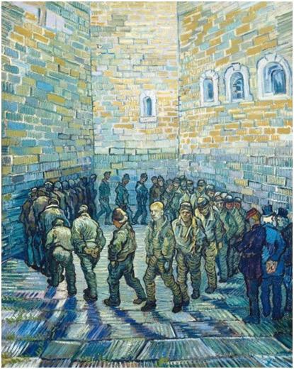 V. Van Gogh. Ronda de presos, 1890