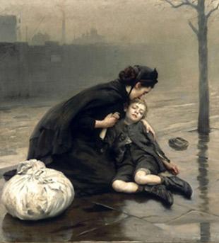 Thomas Benjamin Kennington. Sense llar, 1890.
