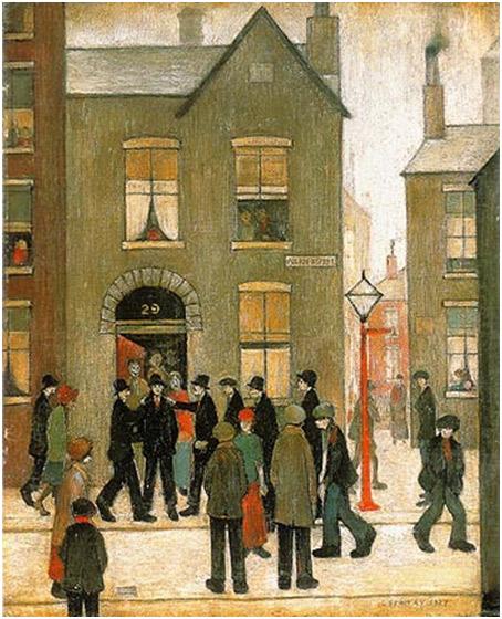 L.S. Lowry. L'arrest, 1927