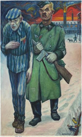 David Olère. El presoner (autoretrat), (any desconegut)