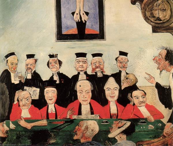 James Ensor. Els jutges savis, 1891
