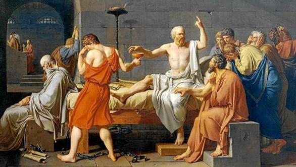 Jacques-Louis David. Mort de Sòcrates,1787