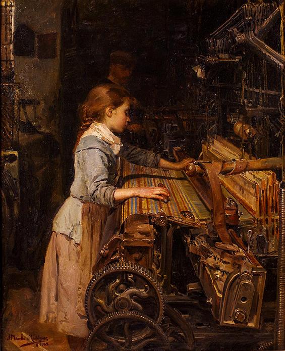 Joan Planella. La nena obrera, 1882.