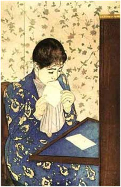 Mary Cassatt. La carta, 1891