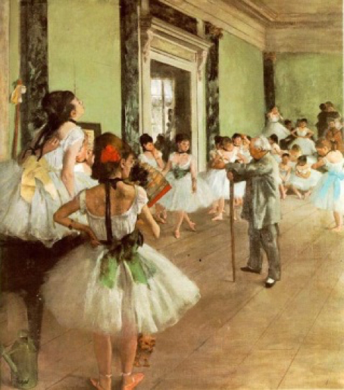 E. Degas. Classe de dansa, 1871-74.
