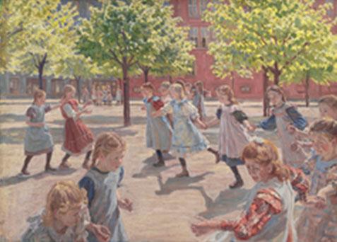 Peter Hansen. Nenes jugant,1908