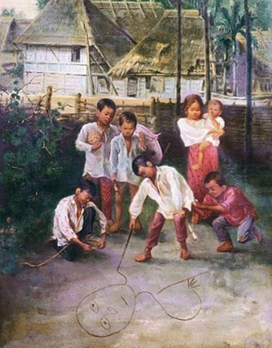 Anònim. Infants jugant, 1887