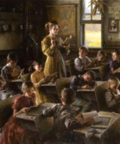 Morgan Weistling. Escola de poble, 1857