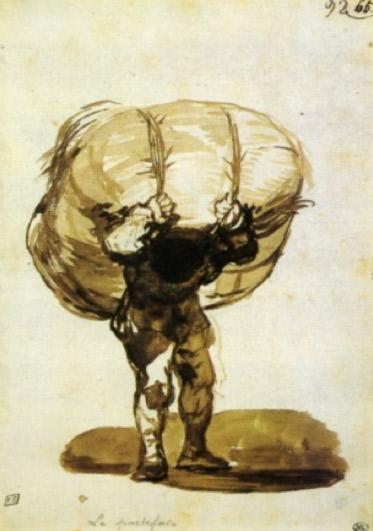 Goya. El portafeixos. Entre el 1812 i el 1923