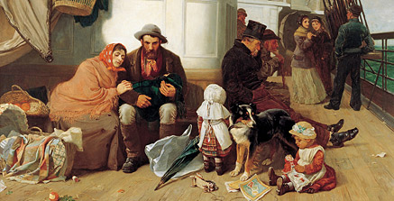 John Dollman. Vaixell d'immigrants, 1884