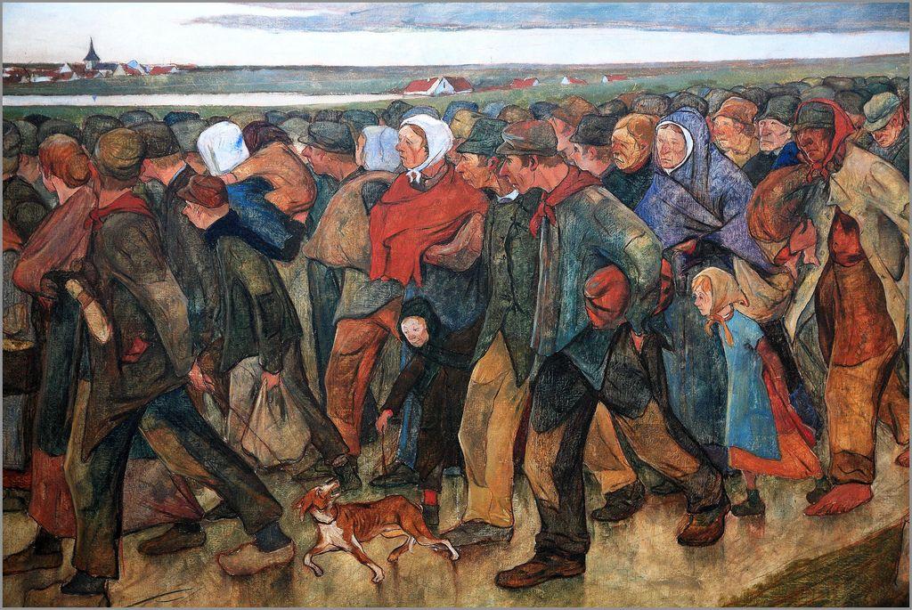 Eugene Laermans. Els emigrants, 1896.